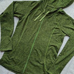 Patagonia Green Zip Up Hoodie